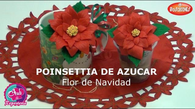 Poinsettias elaboradas con azúcar - Por Rosa Quintero
