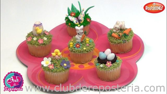 Como Decorar Cupcakes para Pascua por Rosa Quintero