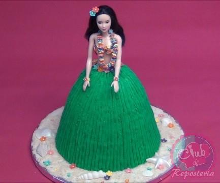 Como Hacer una Torta como Barbie Hawaiana por Rosa Quintero